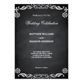 Chalkboard Blackboard Wedding Invitation