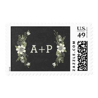 Chalkboard Blooms Custom Postage Stamp