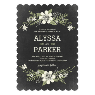 Chalkboard Wedding Invitations & Announcements | Zazzle
