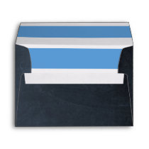 Chalkboard Blue Envelope
