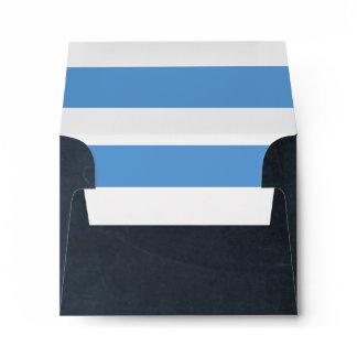 Chalkboard Blue RSVP Envelope