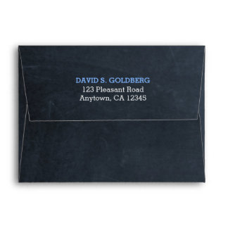 Chalkboard Blue Thank You Envelope