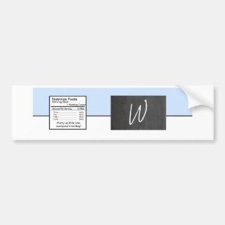 Chalkboard Blue Wedding Water Bottle Label Car Bumper Sticker