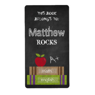 Chalkboard Books This Book Belongs to Apple Label