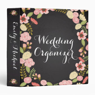 Chalkboard Botanical Wedding Organizer Binder