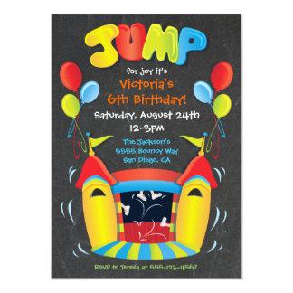 Chalkboard Bounce House BIrthday Party Invitation