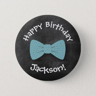 Chalkboard, Bow Tie Birthday Button- Special Bday Pinback Button