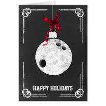 chalkboard bowling Christmas Cards