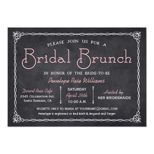 Chalkboard Bridal Brunch Bridal Shower Invitations