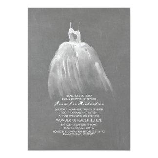 Chalkboard Bridal Shower Elegant Wedding Gown Card