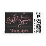 Chalkboard Bridal Shower Fancy Script Postage Stamp