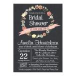 Chalkboard Bridal Shower Invitation with wreath Custom Invites