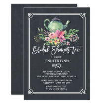 Chalkboard Bridal Shower Tea Wedding Shower Invite