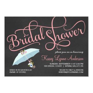 Chalkboard Bridal Shower Umbrella Invitations
