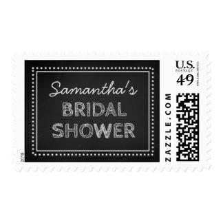 Chalkboard Bridal Shower Wedding Stamp