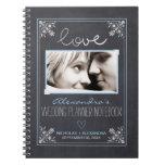 Chalkboard Bride Wedding Planner Notebook (blue)