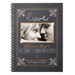 Chalkboard Bride Wedding Planner Notebook (orange)