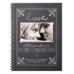 Chalkboard Bride Wedding Planner Notebook (pink)