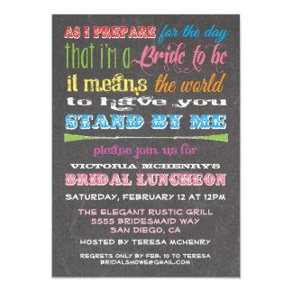 Chalkboard Bridesmaid Luncheon Invitations