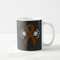 Chalkboard Brown Ribbon Coffee Mug