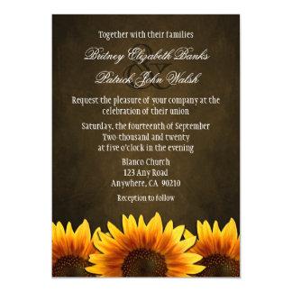 Chalkboard Brown Sunflower Wedding Invitations