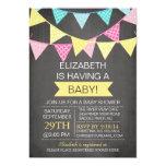 Chalkboard Bunting Gender Neutral Baby Shower 5x7 Paper Invitation Card