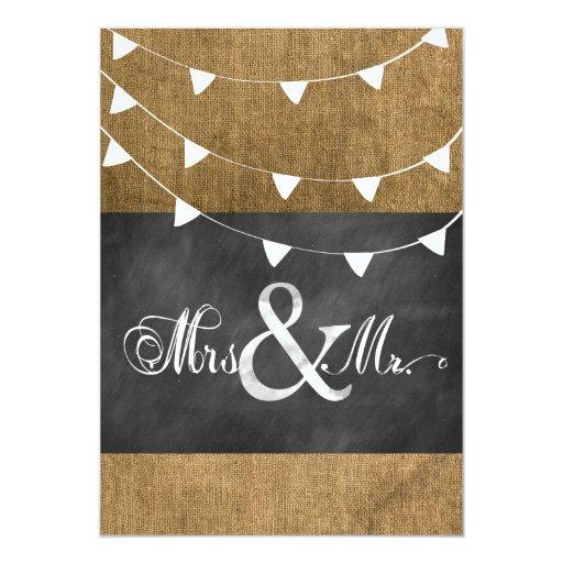 Burlap flag wedding