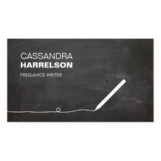 CHALKBOARD BUSINESS CARD FOR AUTHORS WRITERS