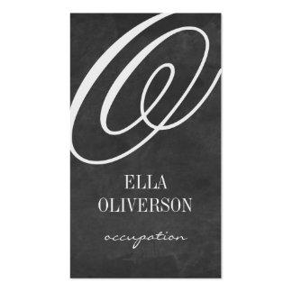 Chalkboard business card template Monogram