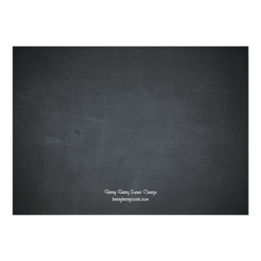 Chalkboard Calendar Photo Save The Date Cards (back side)