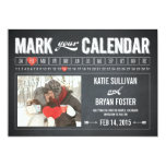 Chalkboard Calendar Photo Save The Date Cards Custom Invitations