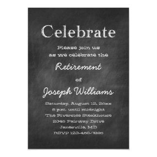 Chalkboard Celebrate Retirement Party Invitations