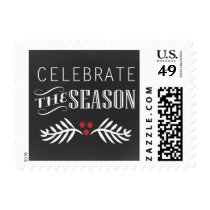 chalkboard celebrate the season holidays stamps