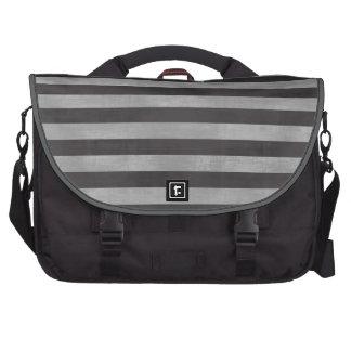 Chalkboard, Chalk Horizontal Stripes Commuter Bag