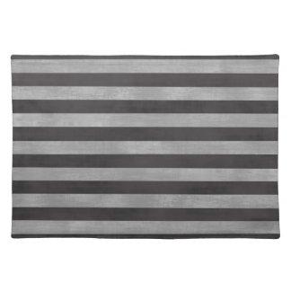 Chalkboard Chalk Horizontal Stripes Place Mat