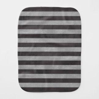 Chalkboard Chalk Horizontal Stripes Burp Cloths