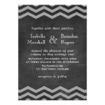 Chalkboard Chevron Wedding Invitation