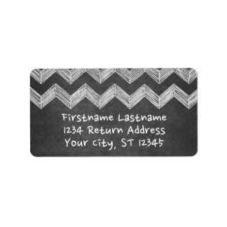 Chalkboard Chevrons with Whimsical Type Label