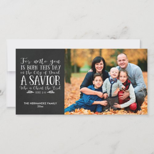 Chalkboard Christmas Bible Verse Holiday Photo