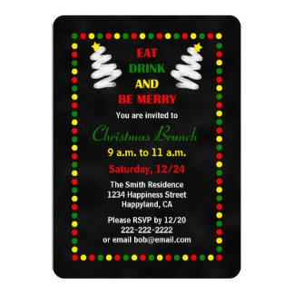 Chalkboard Christmas Brunch Invitations
