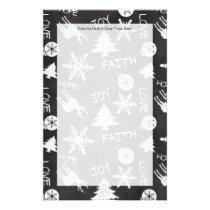 Chalkboard Christmas Fun Pattern Holiday Stationery