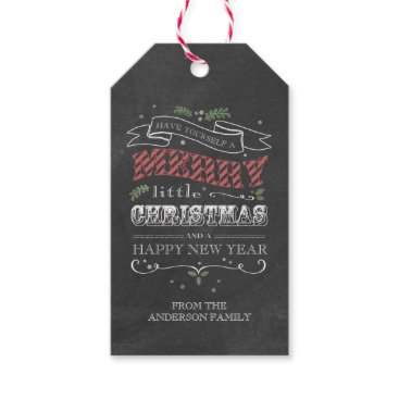 Christmas Themed Chalkboard Christmas Gift Tags