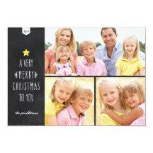 Chalkboard Christmas | Holiday Photo Card Invite
