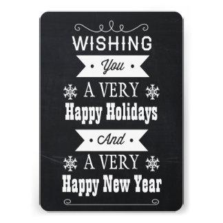 chalkboard Christmas holidays card