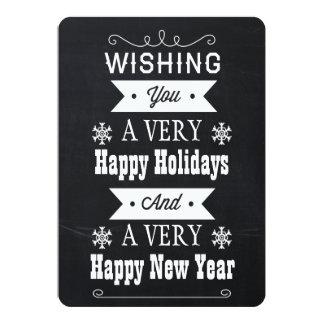 chalkboard Christmas holidays card Custom Announcements