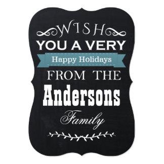 chalkboard Christmas holidays card Invite