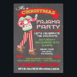 """Chalkboard Christmas Pajama Party Invitations<br><div class=""""desc"""">Chalkboard Christmas Pajama Party Invitations Super cute for the Holidays, this Christmas party is for adults or kids that have a pajama theme. Features Santa pj's and reindeer slippers, fun fonts and banners all on a chalkboard background. Hand drawn illustration by McBooboo's. Need help or a custom version of the...</div>"""