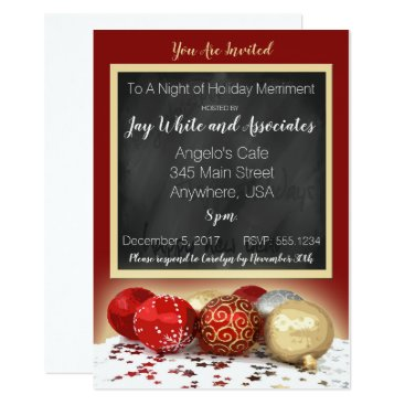 Professional Business Chalkboard Christmas Party For Business/Personal Card