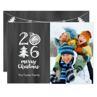 Chalkboard Christmas Photo Card 2016