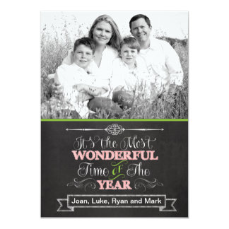 Chalkboard Christmas Photo Card Personalized Invite